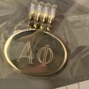 Jewelry - Sterling Alpha Phi Monogram necklace charm